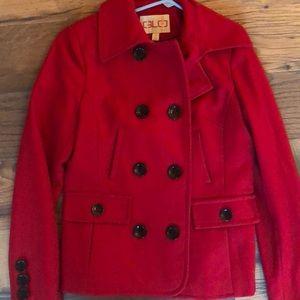 GLO red pea coat 🧥